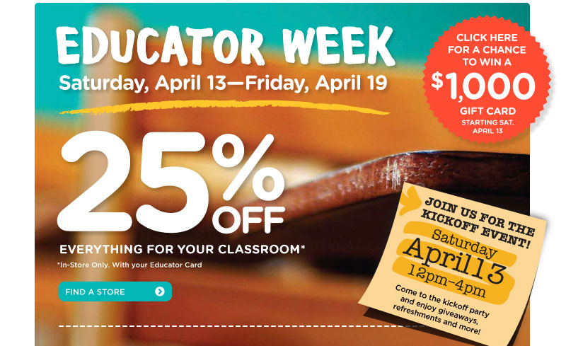 25% Off Everything for Your Classroom