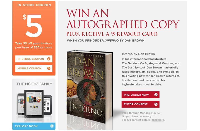 Win an Autographed Copy of Inferno by Dan Brown