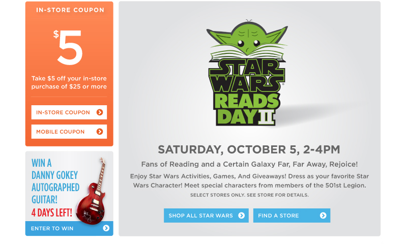 Star Wars Reads Day! Saturday, October 5, 2-4pm