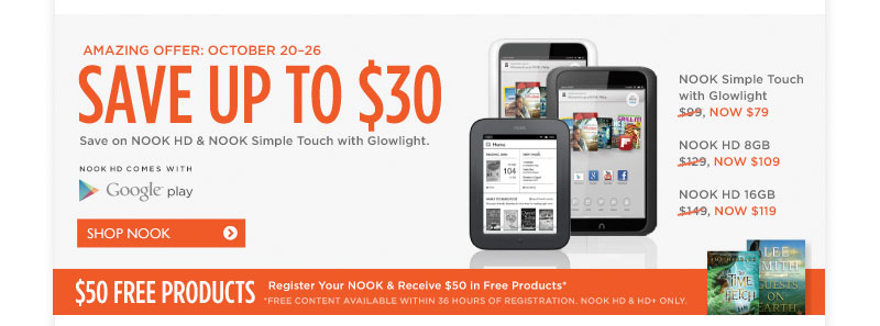 Amazing Offers on Nook! Limited Time Only!