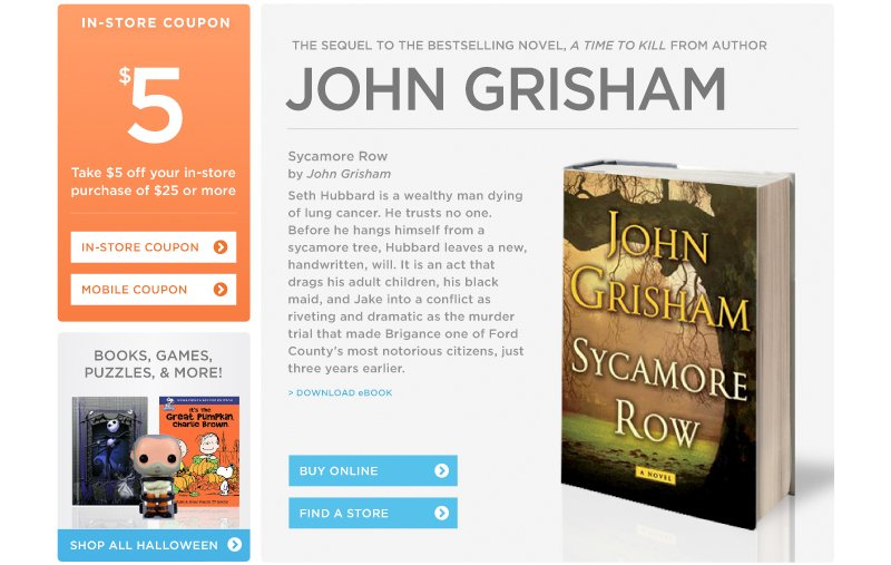 """Sycamore Row"" by John Grisham"