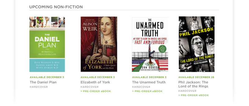 Upcoming Non-Fiction