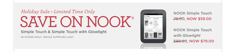 Save on Nook!
