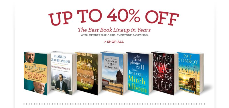 Up to 40% Off the Best Book Likeup in Years!