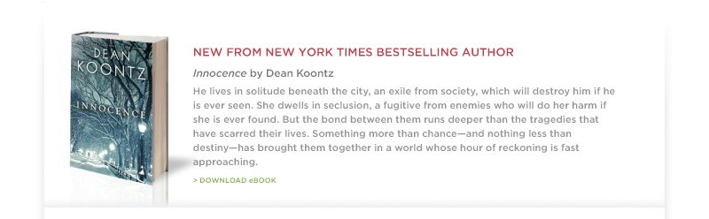 """Innocence"" by Dean Koontz"