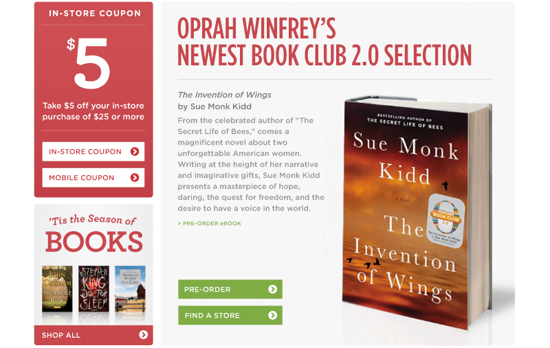 Oprah Winfrey's Newest Book Club 2.0 Selection!