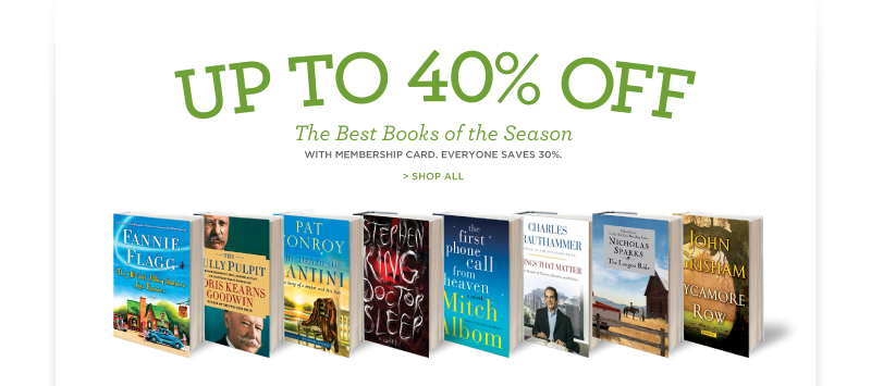 Up to 40% Off The Best Books of the Season