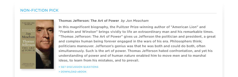 """Thomas Jefferson: The Art of Power"" by Jon Meacham"