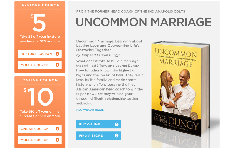 """Uncommon Marriage : Learning about Lasting Love and Overcoming Life's Obstacles Together"" by Tony Dungy and Lauren Dungy"