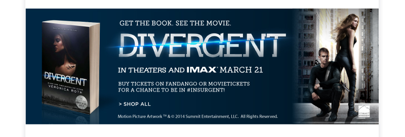 Divergent, in theatres and IMAX March 21.