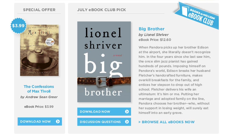 Books-A-Million July eBook Club Pick