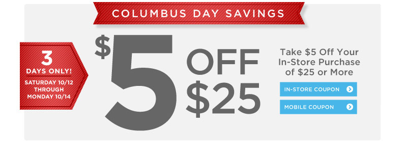 Columbus Day Savings at Books-A-Million - 3 Days Only!
