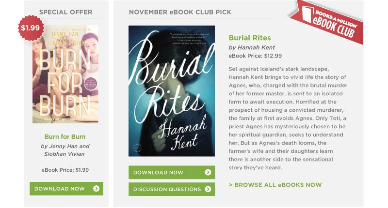 Books-A-Million October eBook Club Pick