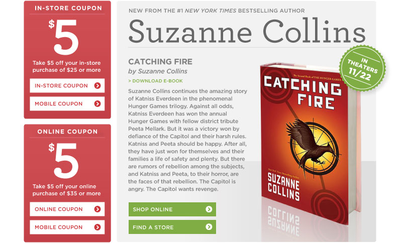"Suzanne Collins's ""Catching Fire"" at Books-A-Million"